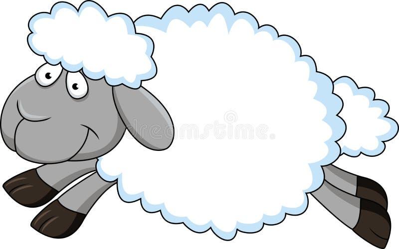 Funny Sheep Cartoon Royalty Free Stock Photography