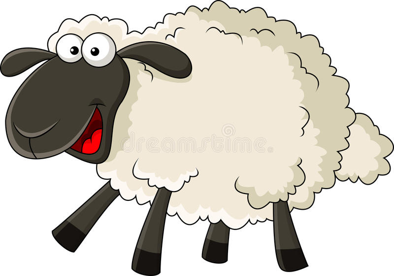Funny sheep cartoon royalty free illustration