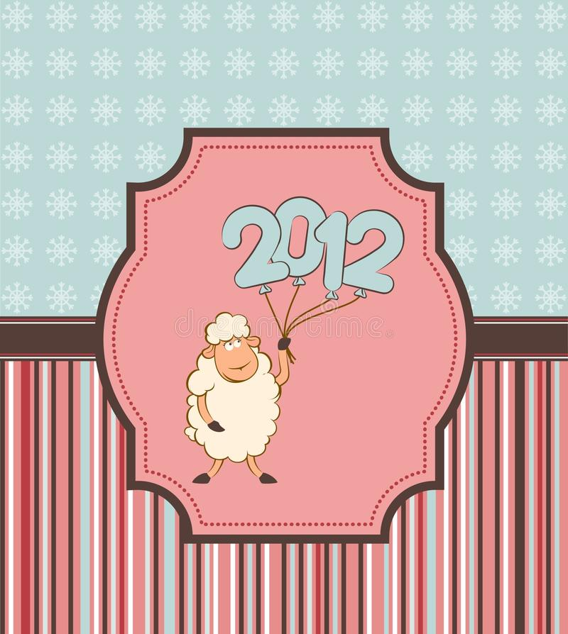 Download Funny Sheep And Numbers 2012 Year. Stock Vector - Image: 21951114