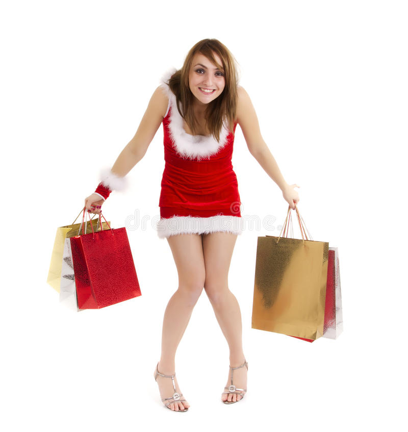 Download Funny shopper woman stock image. Image of fashion, expression - 17434223