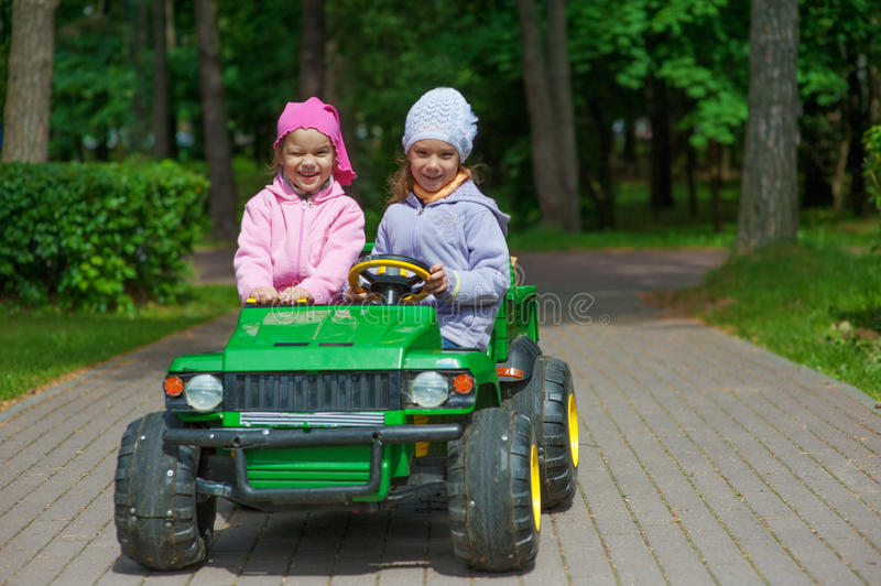 Download Funny Sisters Go To Little Green Stock Image - Image: 26877031