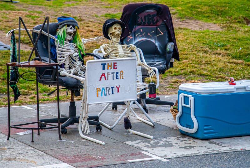 Funny Skeletons royalty-vrije stock afbeeldingen