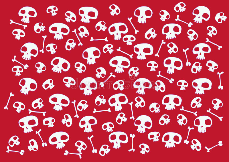 Funny skulls vector illustration
