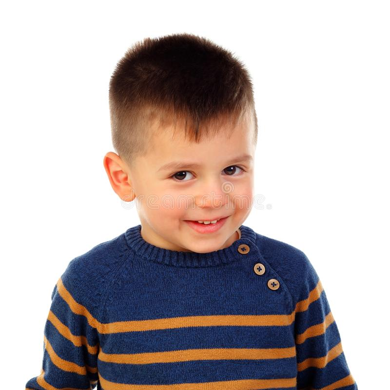 Funny small child with stock photo