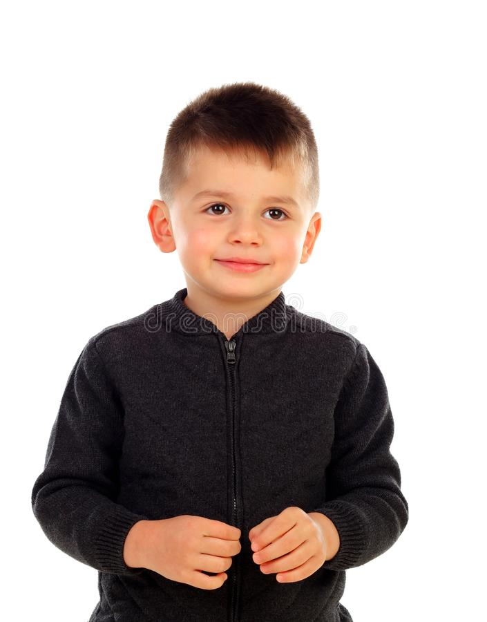 Funny small child with royalty free stock image