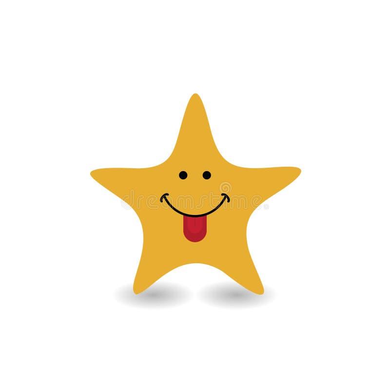 Funny smile star icon logo - vector illustration. Eps 10 vector illustration