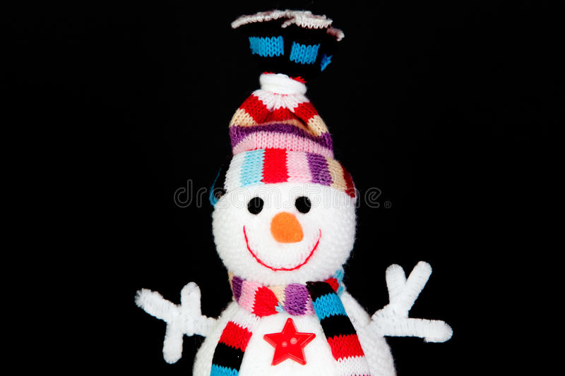 Download Funny snowman made of wool stock photo. Image of snow - 23080530