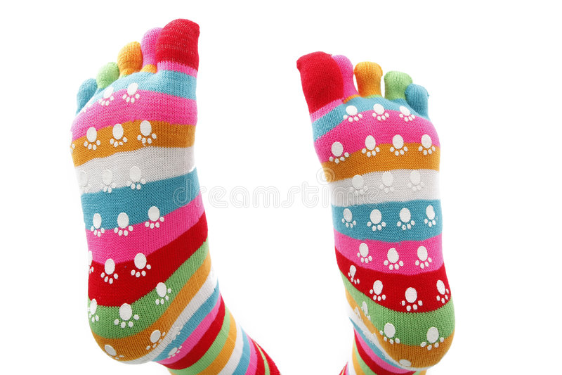 Download Funny socks stock image. Image of colorful, hosiery, stripes - 4448369