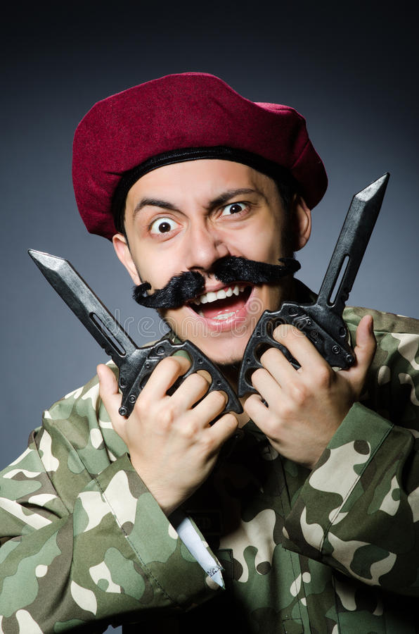 Download Funny soldier stock photo. Image of aiming, martial, metal - 42203214