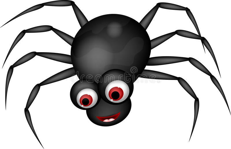 Funny spider cartoon stock illustration. Illustration of ...
