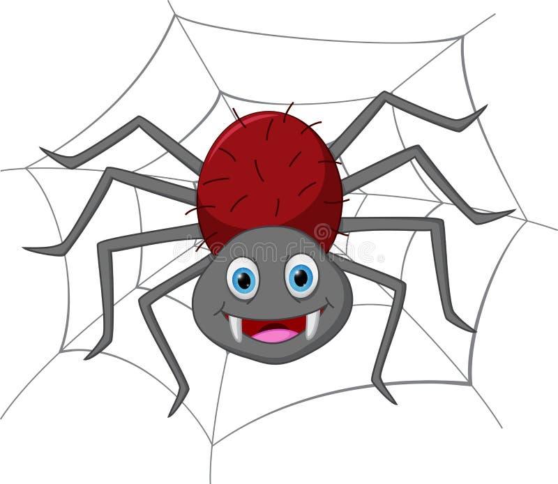 Funny spider cartoon stock illustration