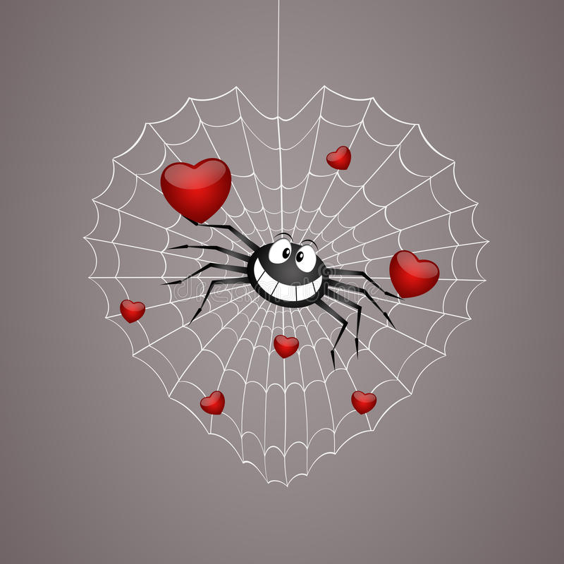 Free Funny Spider In Valentine S Day Royalty Free Stock Image - 50196466
