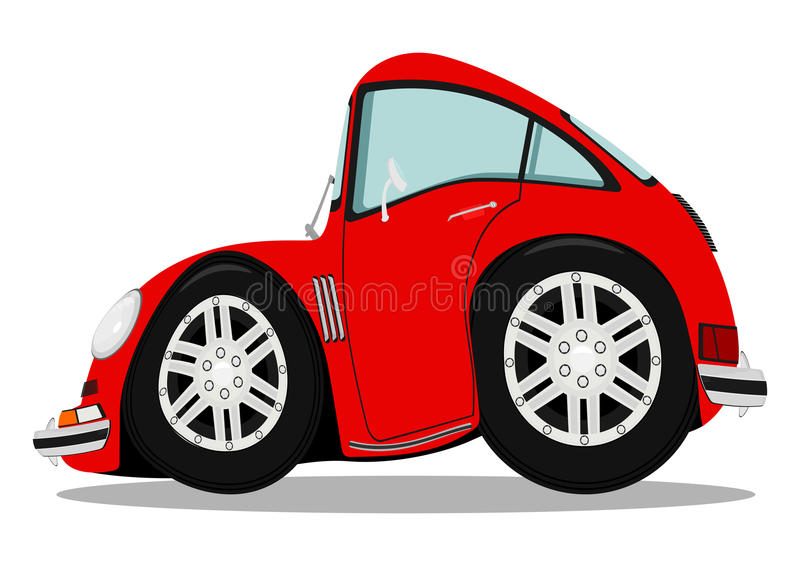 Funny sports car. After heavy braking. Vector illustration without gradients vector illustration