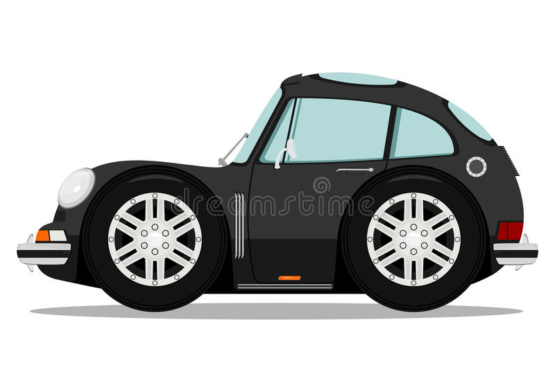 Funny sports car royalty free illustration