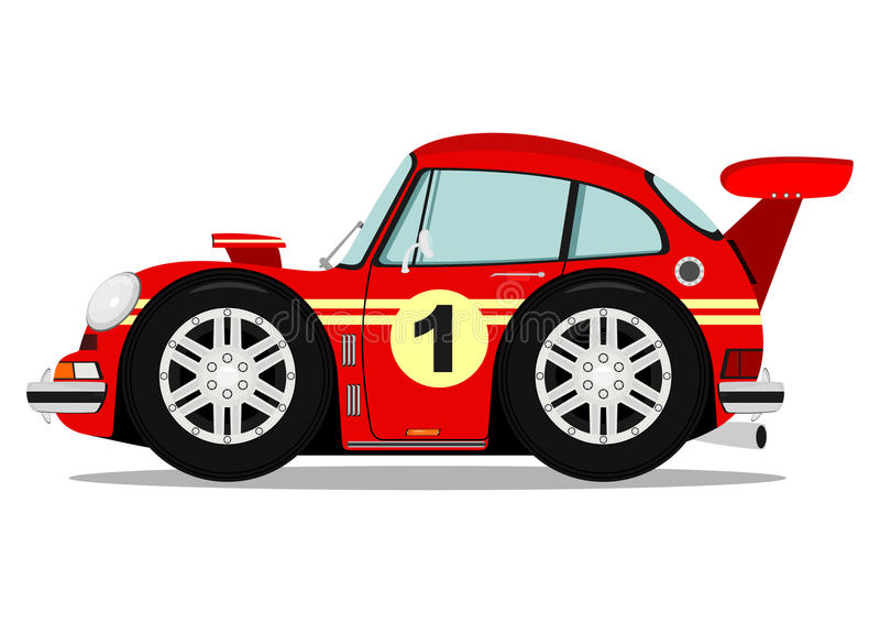Funny sports car stock illustration