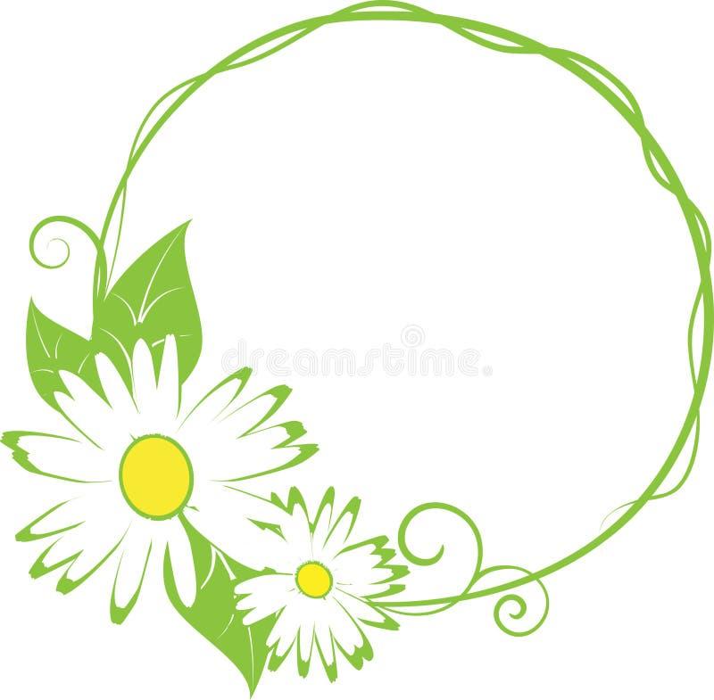 Funny spring floral border. vector illustration
