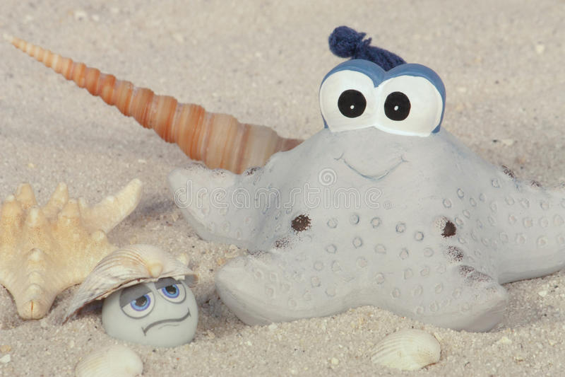 Funny Starfish On The Beach Royalty Free Stock Photo