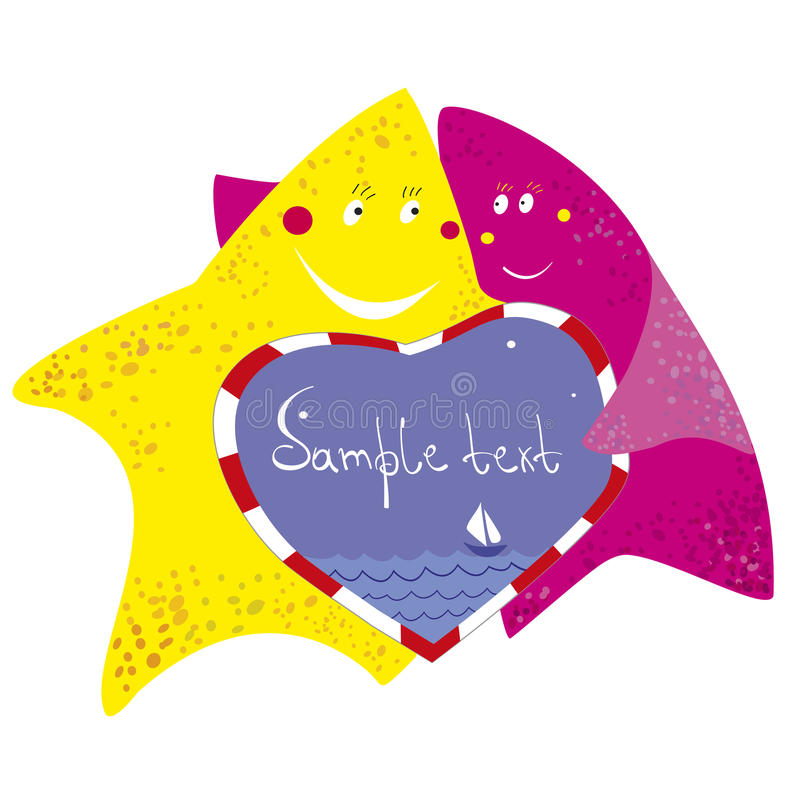 Download Funny starfishes stock vector. Image of happiness, vector - 30971320