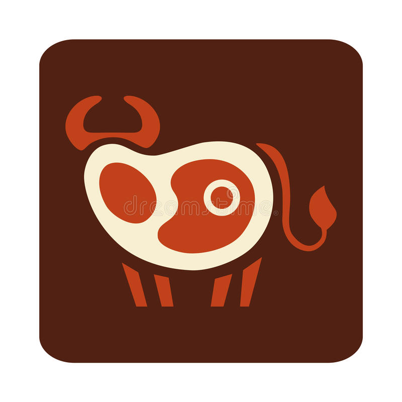 Funny steak logo royalty free stock photos
