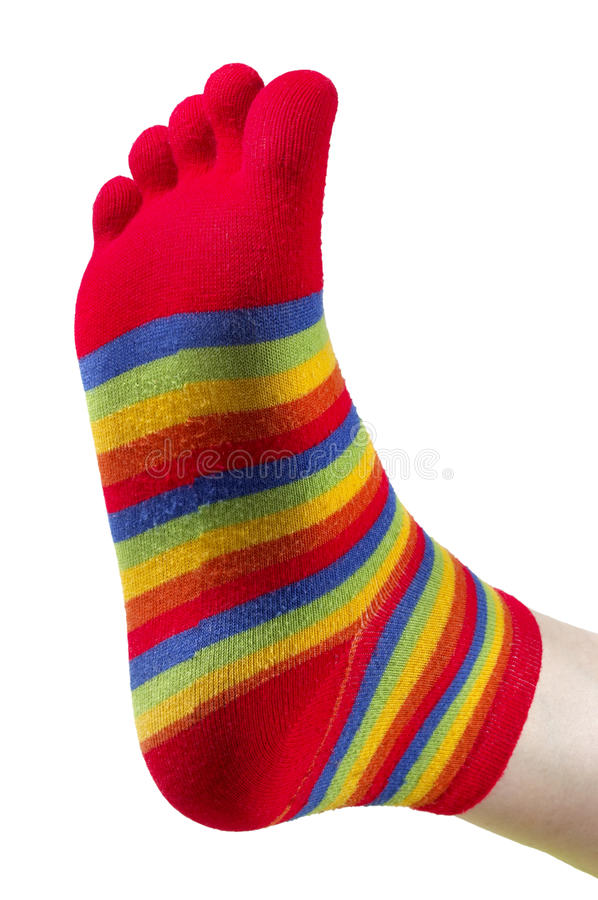 Download Funny stocking stock image. Image of rainbow, sock, fingers - 16488711