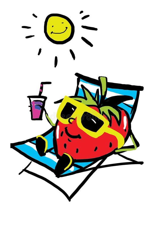 Funny strawberry royalty free illustration