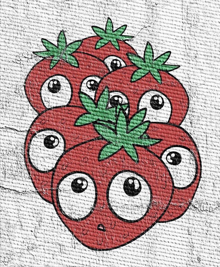 Funny strawberry illustration vector illustration