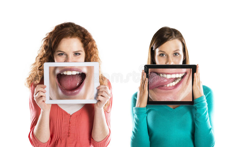 Funny portraits royalty free stock images
