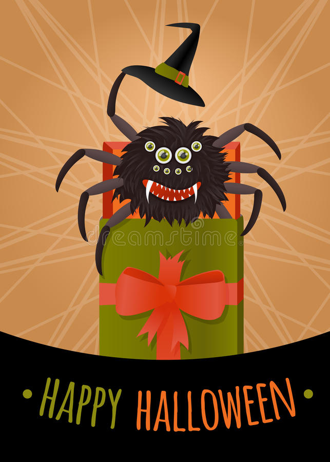 Funny surprise for Halloween royalty free stock images
