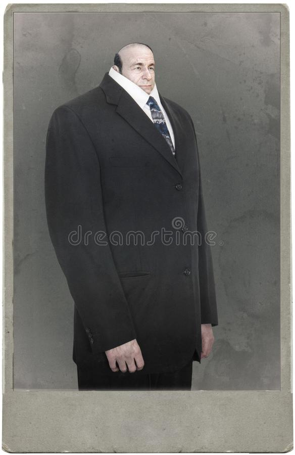 Funny Surreal Business Man Portrait, Photography royalty free stock images