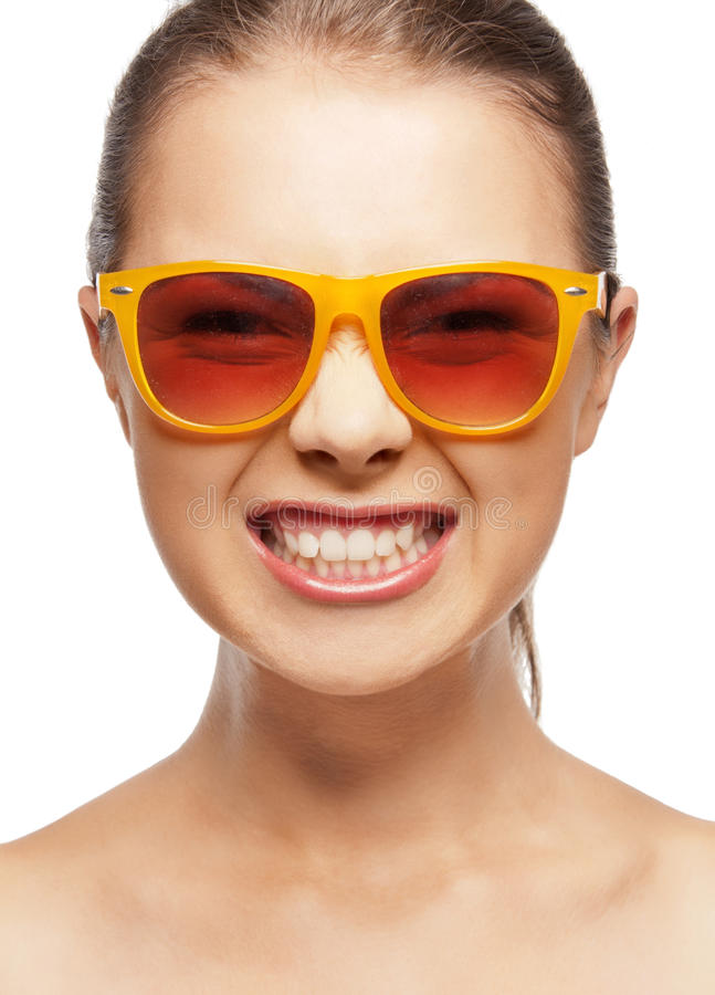 Download Funny Teenage Girl In Shades Stock Image - Image: 22013497