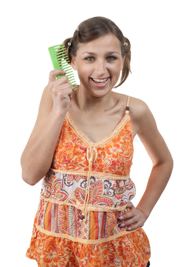 Download Funny Teenager With Comb Over White Stock Photo - Image: 14408518