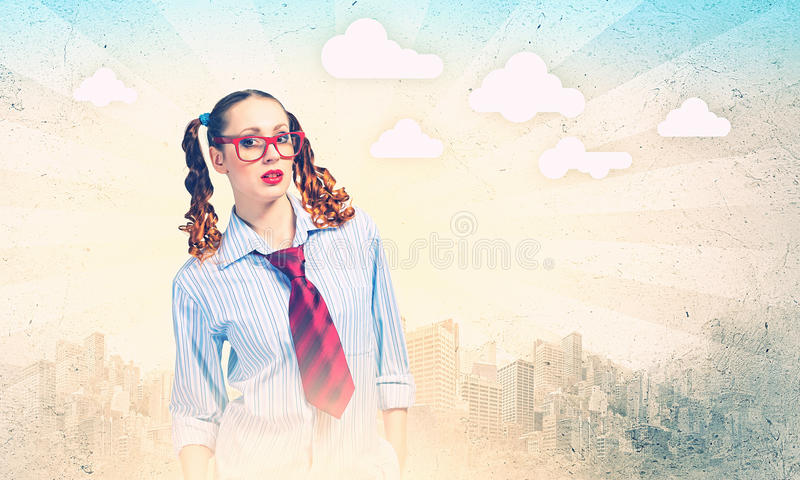 Download Funny teenager girl stock photo. Image of positive, glamour - 33035190