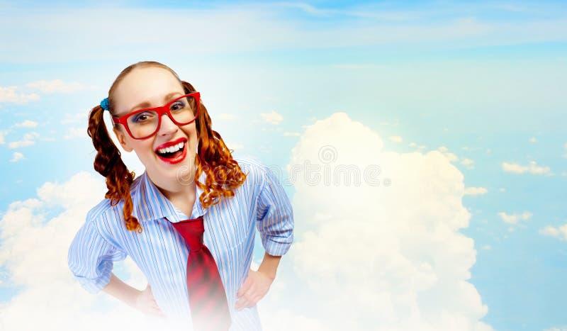 Funny teenager girl royalty free stock image