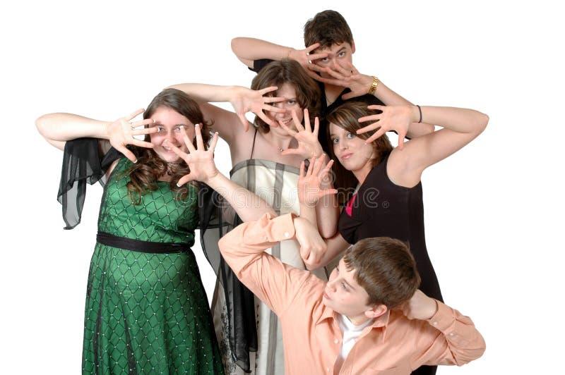 Funny Teens royalty free stock photos
