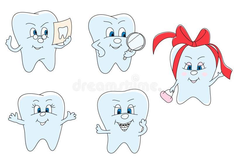 Funny teeth stock illustration