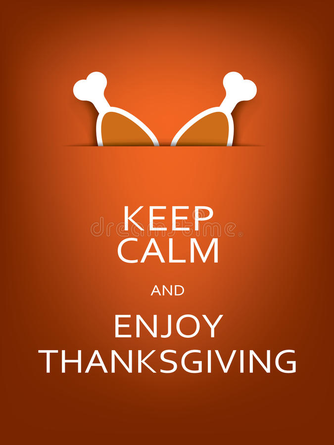 Funny Thanksgiving Card Template With Message Stock Vector