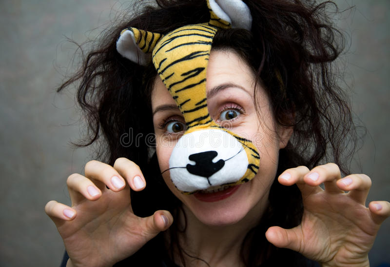 Funny Tiger Royalty Free Stock Image