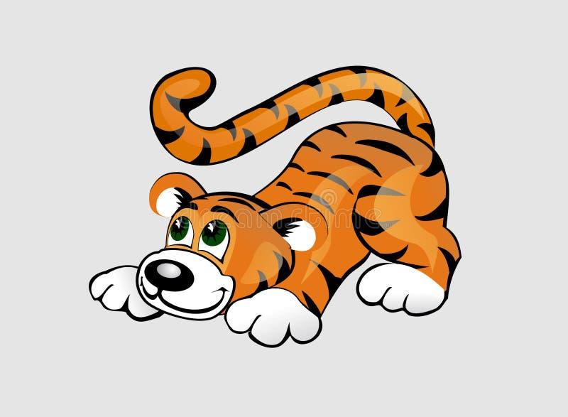 Download Funny tiger stock vector. Illustration of striped, tiger - 14666801