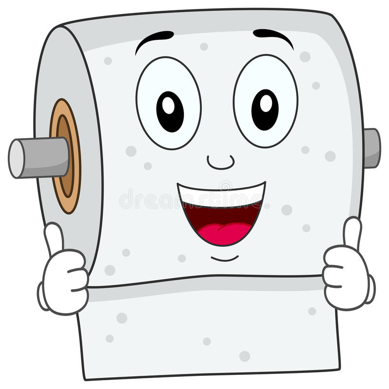 Funny Toilet Paper Smiling Character Stock Vector ...