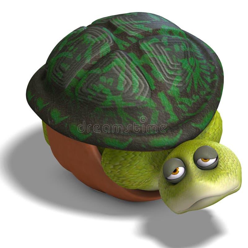 Free Funny Toon Turtle Enjoys Life Royalty Free Stock Photo - 11351235