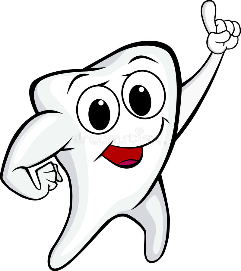 Download Funny tooth stock vector. Image of beautiful, comic, cheerful - 21026711