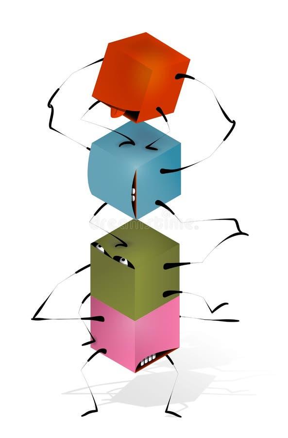 Download Funny Toy Blocks Pyramid stock vector. Illustration of blocks - 26469564