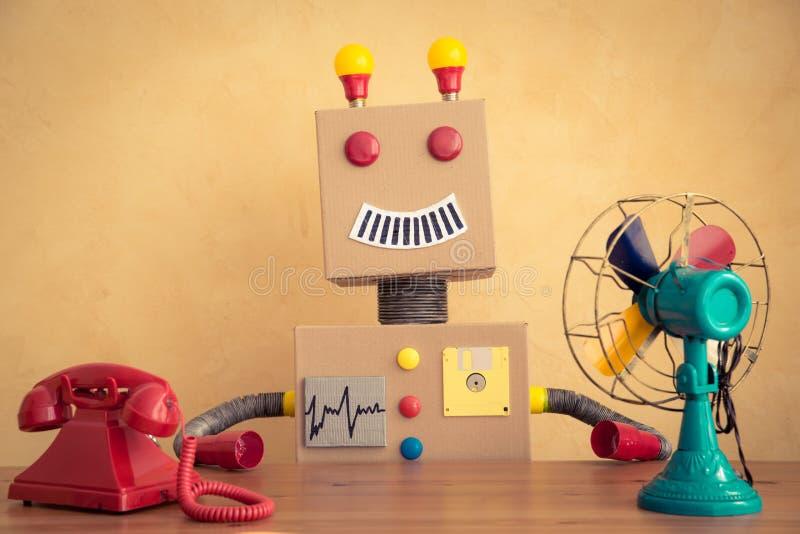 Funny toy robot stock photos
