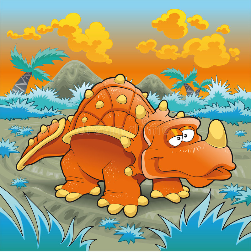 Download Funny triceratops stock vector. Image of cloud, expression - 7700068
