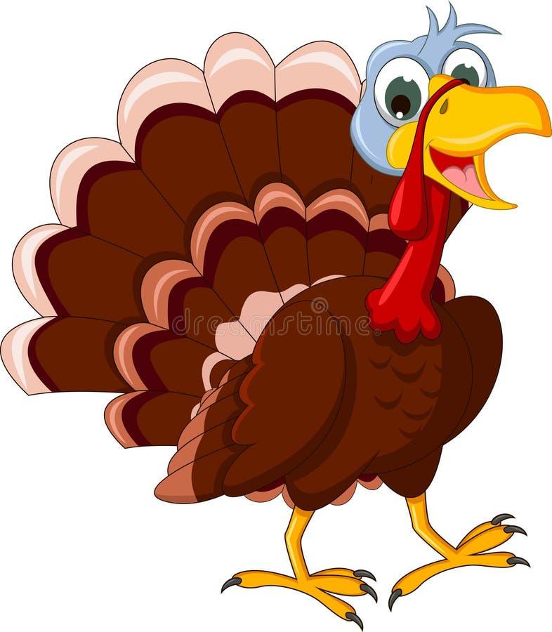 Funny turkey cartoon posing. Illustration of funny turkey cartoon posing vector illustration