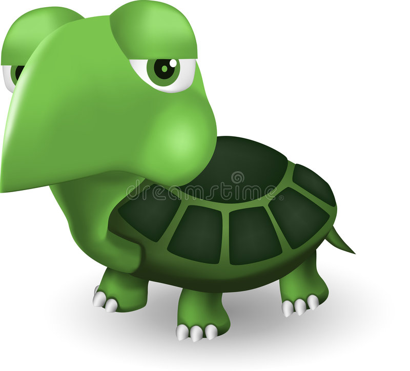 Download Funny turtle stock vector. Image of illustration, animated - 7679226