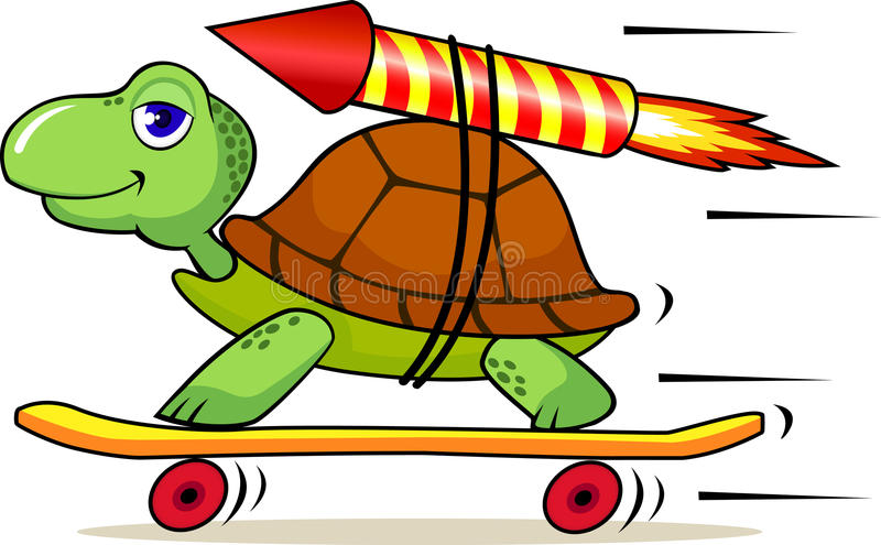 Download Funny turtle with rocket stock vector. Image of frame - 13954996