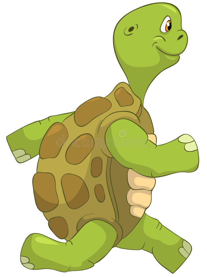 Download Funny Turtle. Running. stock vector. Image of ecology - 24673945