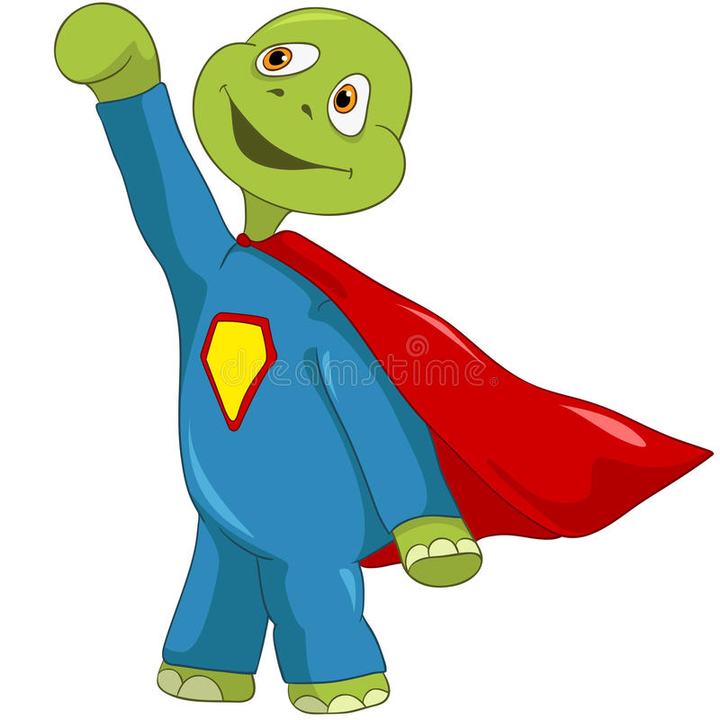 Download Funny Turtle. Superman. stock vector. Image of happy - 25522099