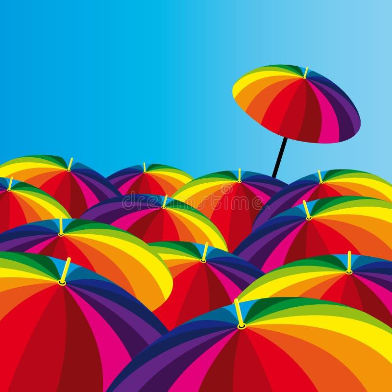 Download Funny umbrellas stock vector. Illustration of blue, color - 7951587